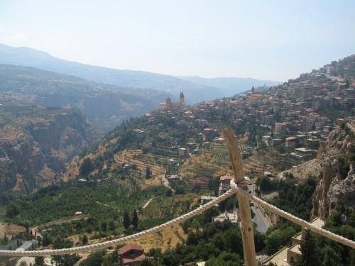 Bcharri , vistas desde el museo de Khalil Gibran.